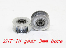 3D printer accessories 2GT 16 tooth synchronous wheel pulley wheel Perlin passive idler pulley wheel bore 3mm