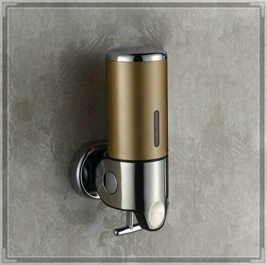 Bathroom Shampoo Box Wall Mounted Liquid Soap Dispenser double brush(China (Mainland))