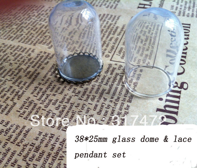 Aliexpress.com Buy Freeshipping!! 38*25mm Glass Dome Cover Glass