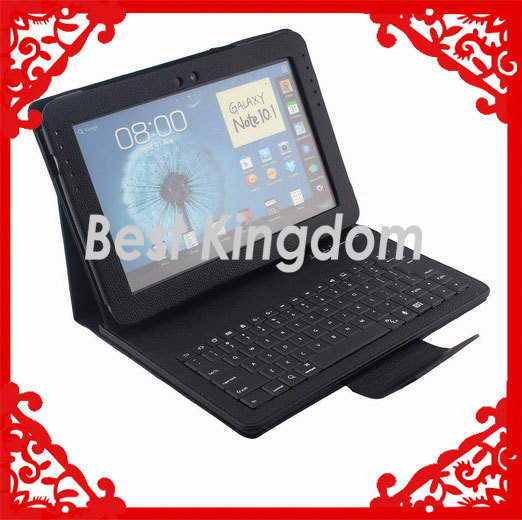 Hot Selling N8000 Bluetooth Keyboard For Galaxy Note 10.1 With Leather Case(China (Mainland))