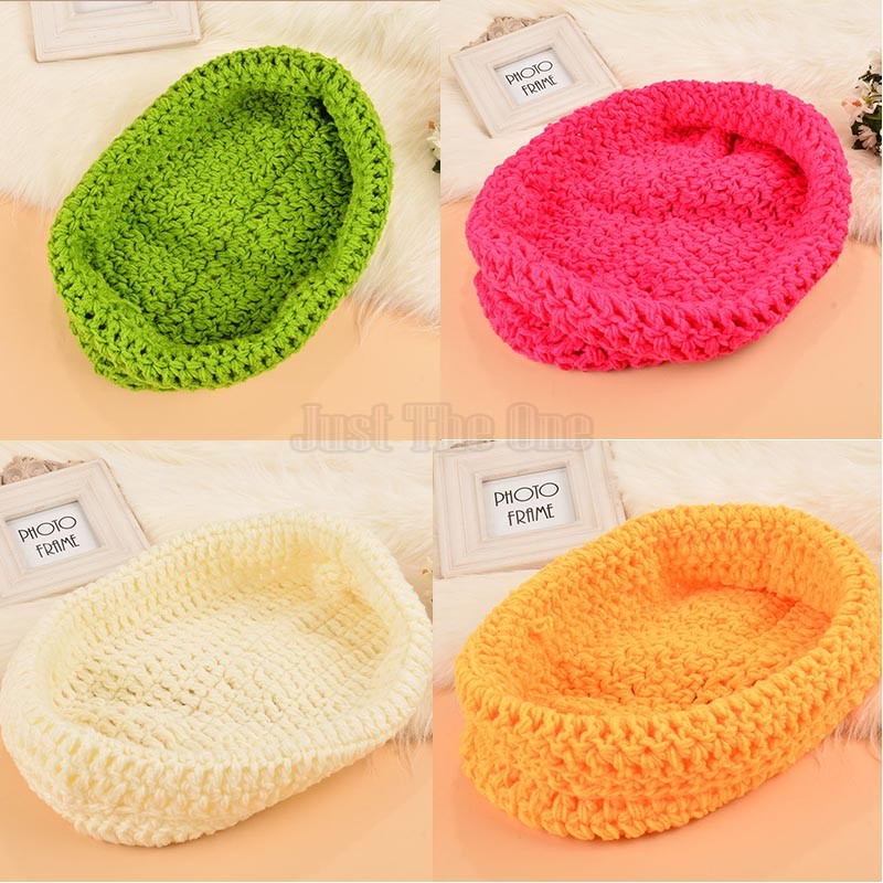 Hot Sale Baby Bowl Cocoon Photography Props Handmade Newborn Knitted Hat Pod Sleeping Bag Crochet Toddler Costume Outfit 35(China (Mainland))