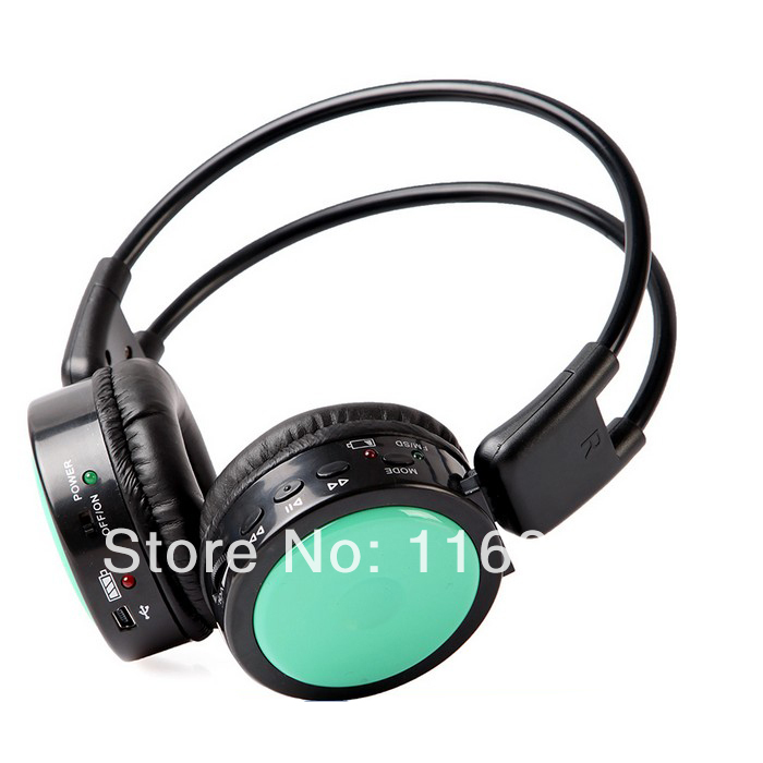 wireless Headphones Stero Wireless earphones FM SD/TF Music MP3 Player wireless headsets retail and wholesale Free shipping(China (Mainland))