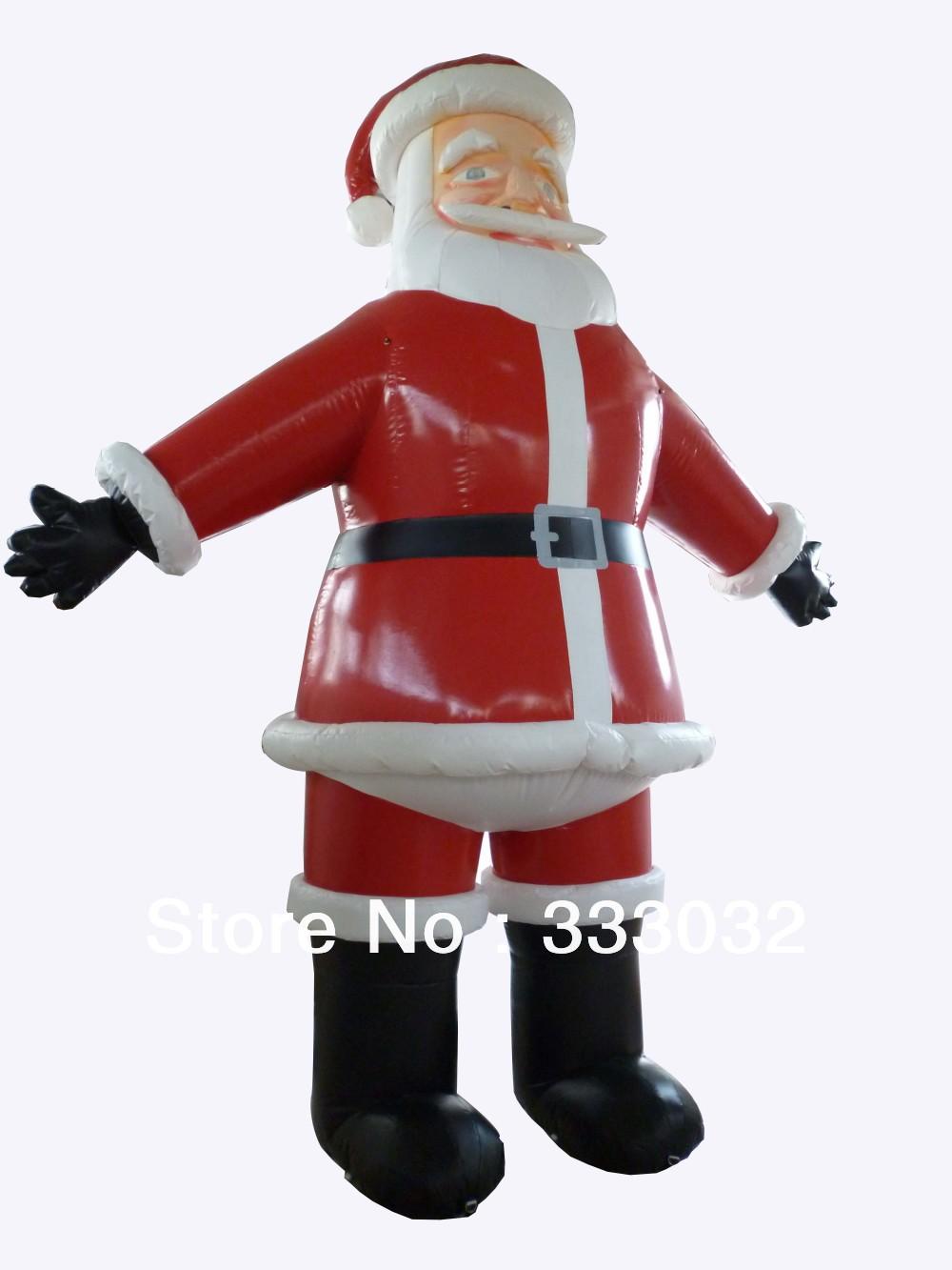 2013 New 6m inflatable Santa Claus Plato PVC tarpaulin durable inflatable huge Christmas nice idea for decoration(China (Mainland))