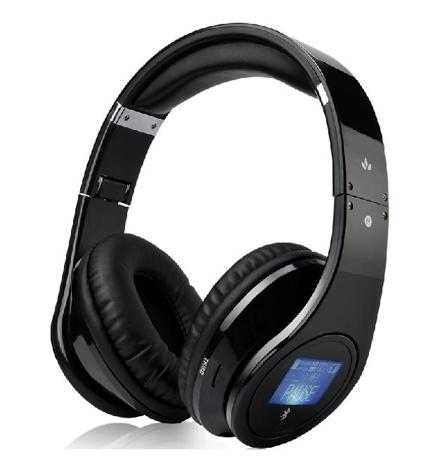 Wireless Stereo Bluetooth Headphone Headset Headband Over Ear Mic Folding Portable MircoSD TF Card Mp3 Player Base LCD Suobo K33(China (Mainland))