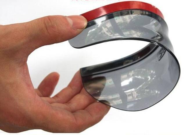 2PCS Car Accessories Rear View Mirror Weatherstrip Flexible Rear View Mirror Anti Rain Guard Shade Auto