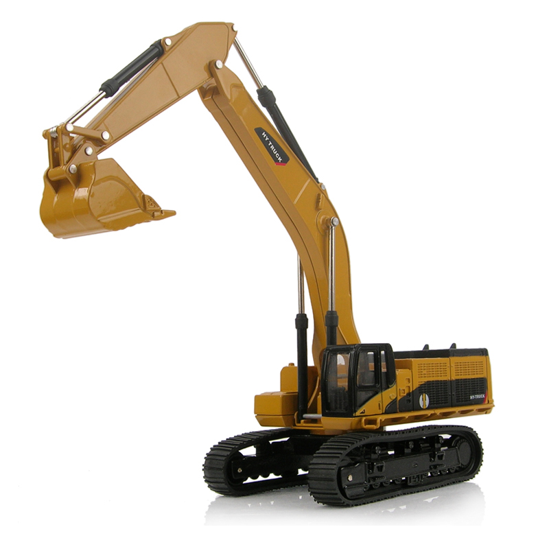 Discount full alloy engineering car model for kids large excavator in hot sale new designer children toy vehicles free shipping(China (Mainland))