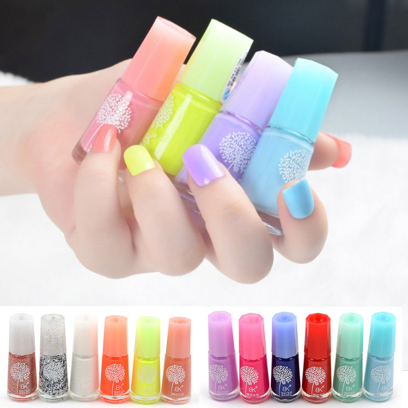 24Pcs-Lot-Non-toxic-Green-Nail-Gel-Water-based-Nail-Polish-Varnish