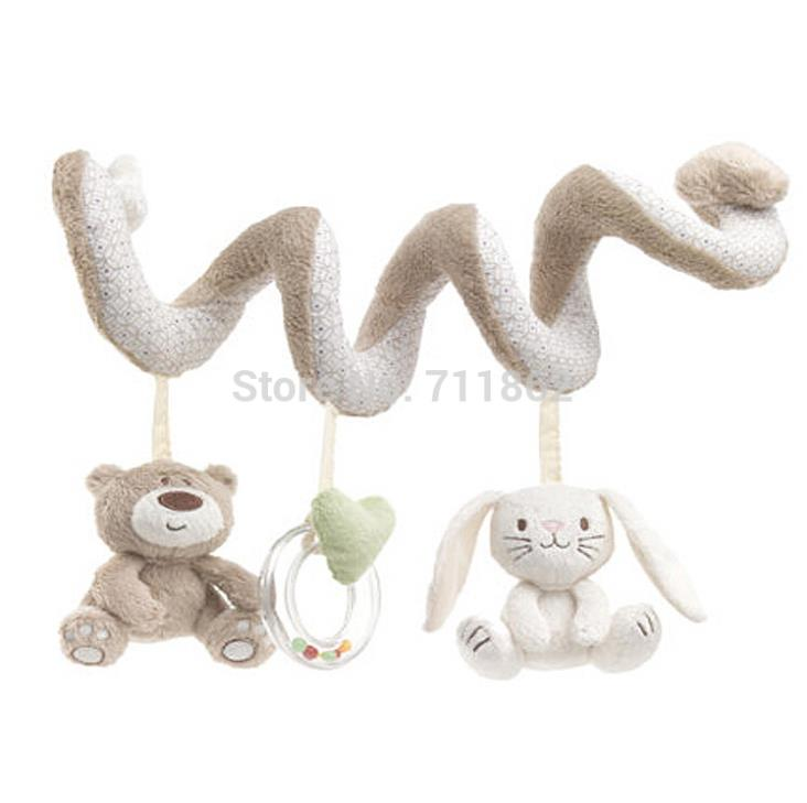 Гаджет  soft baby bed Hanging toy Spiral Activity rabbit Round the Bed Baby Educational Rattles Toys  None Игрушки и Хобби