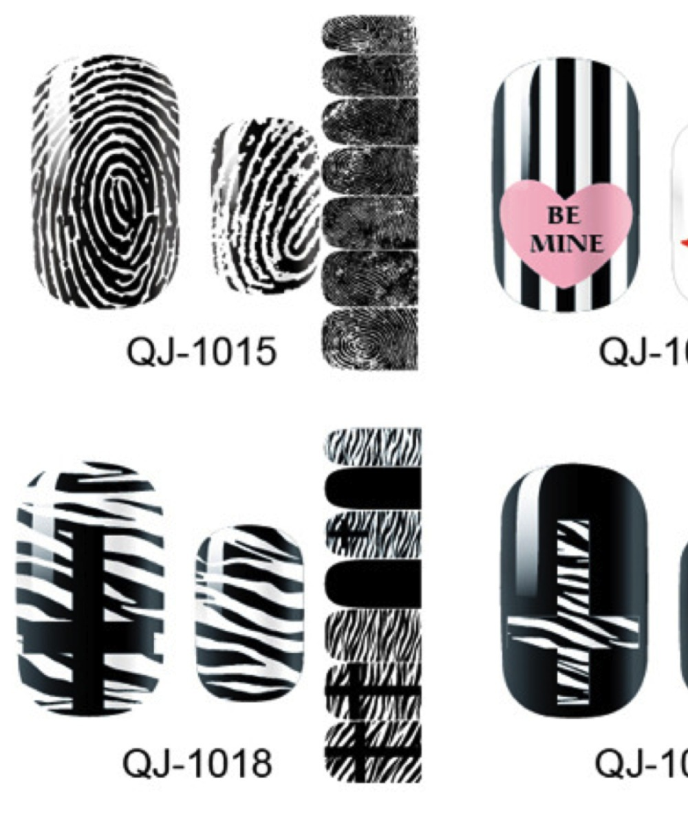 20 Sheets Nail Art Polish Stickers Adhesive Full Patch Wrap Decals Decorations Tools(China (Mainland))