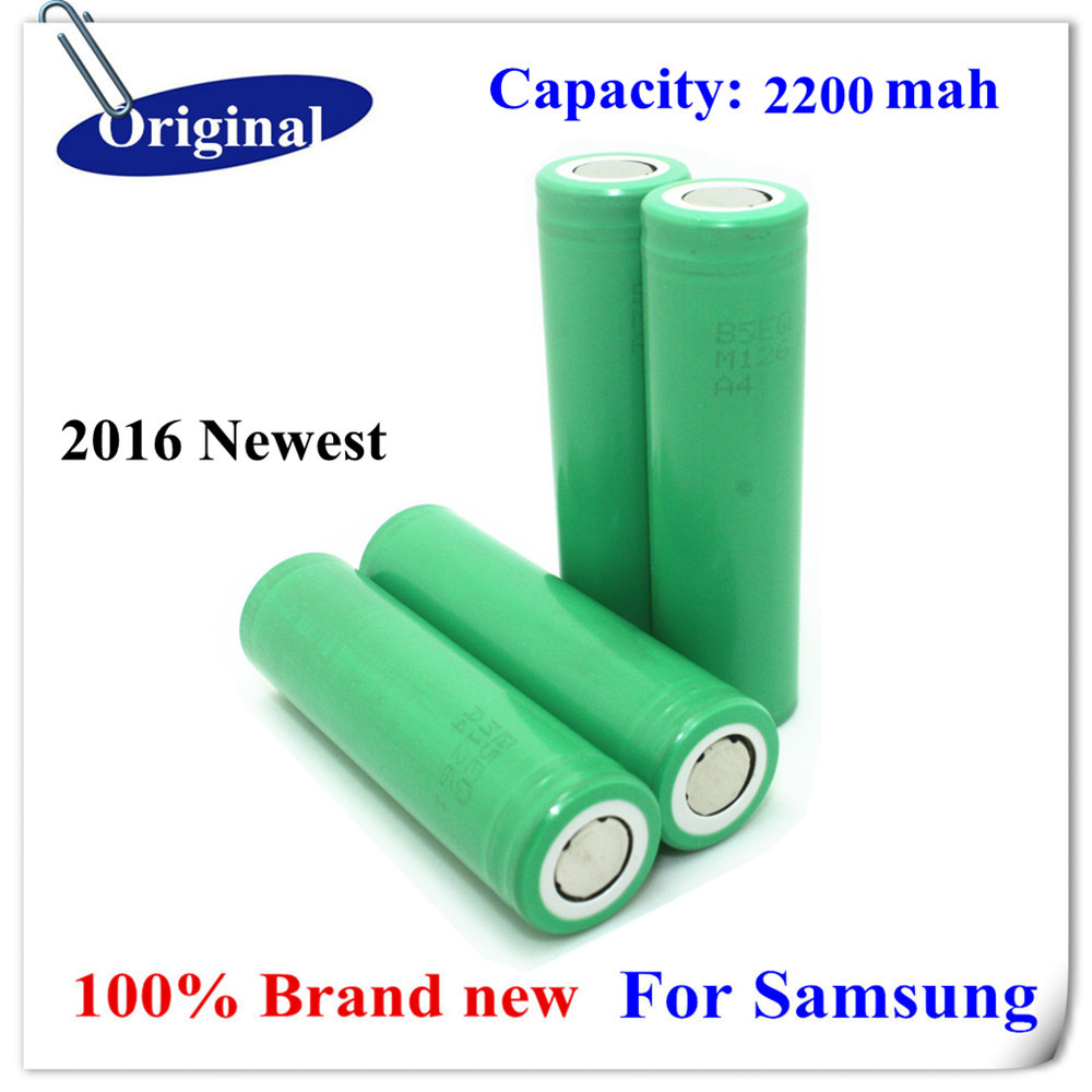 4pcs/lot Original 18650 For Samsung 2200MAH Rechargeable Batteries ICR18650-22FM Li-ion Battery/18650 battery 2200mah(China (Mainland))