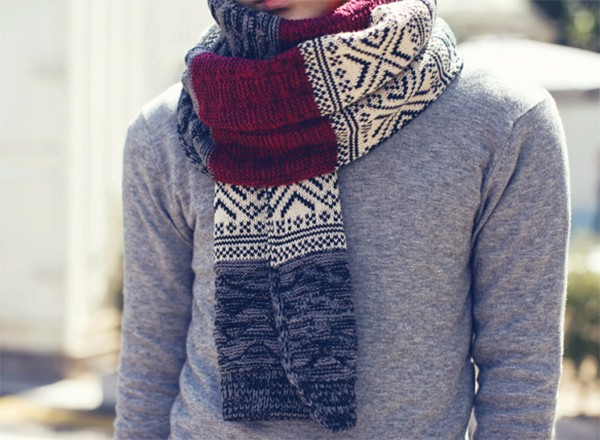 Autumn and winter caddice knitting colour mixture scarf Thickening and warming  Lovers thick wool spell tide scarf