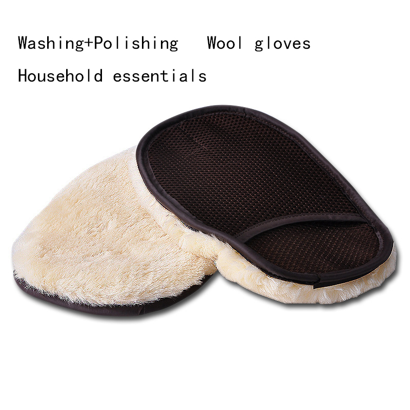Thick Waxing Polishing car care Cleaning dusting Mitt Plush Microfiber Gloves High Quality Wax Applicator Glovers +Free Shipping(China (Mainland))