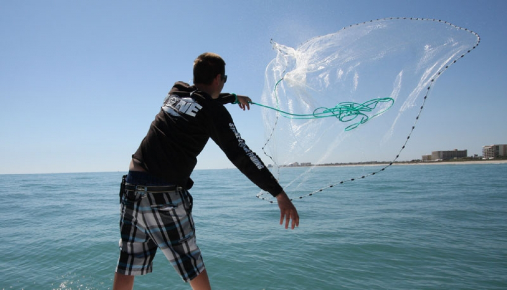 throwing fishing nets the image kid has it
