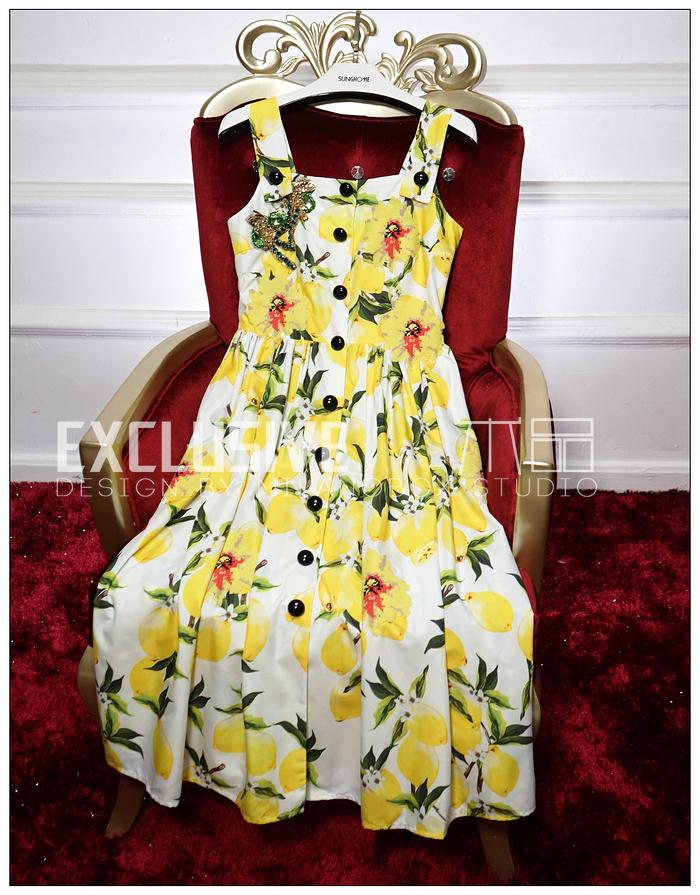 2016 summer new runway dress women beach printed dress M011901Одежда и ак�е��уары<br><br><br>Aliexpress