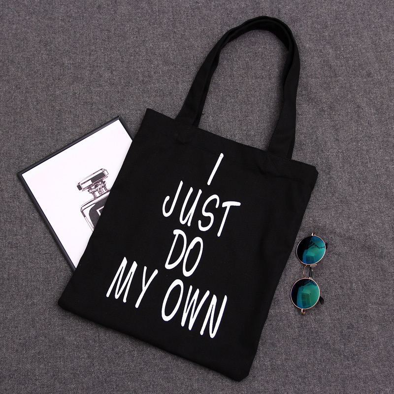 Canvas Tote Letter Shoulder Bags Online Big Wholesale Hangbags Luggage White Black Tote Bag Canvas Fabric Shopper Large Tote Bag(China (Mainland))