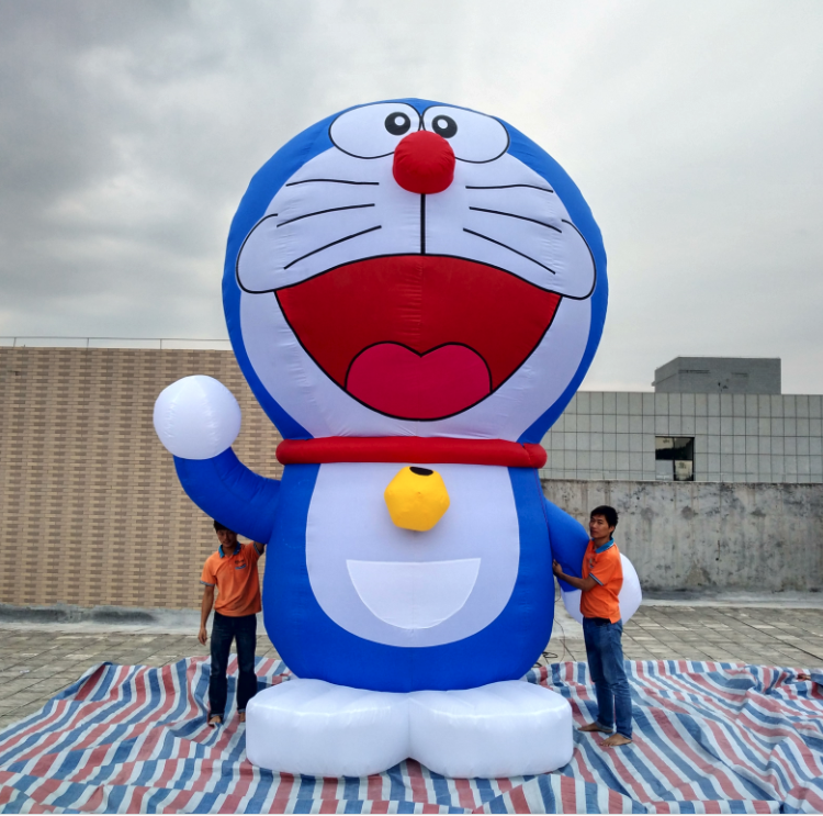 Included air blower giant advertising inflatable doraemon A dream cartoon for christmas decoration(China (Mainland))