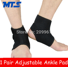 1 pair PRO tennis football basketball badminton volleyball Adjustable Ankle pad guard protector support brace(China (Mainland))