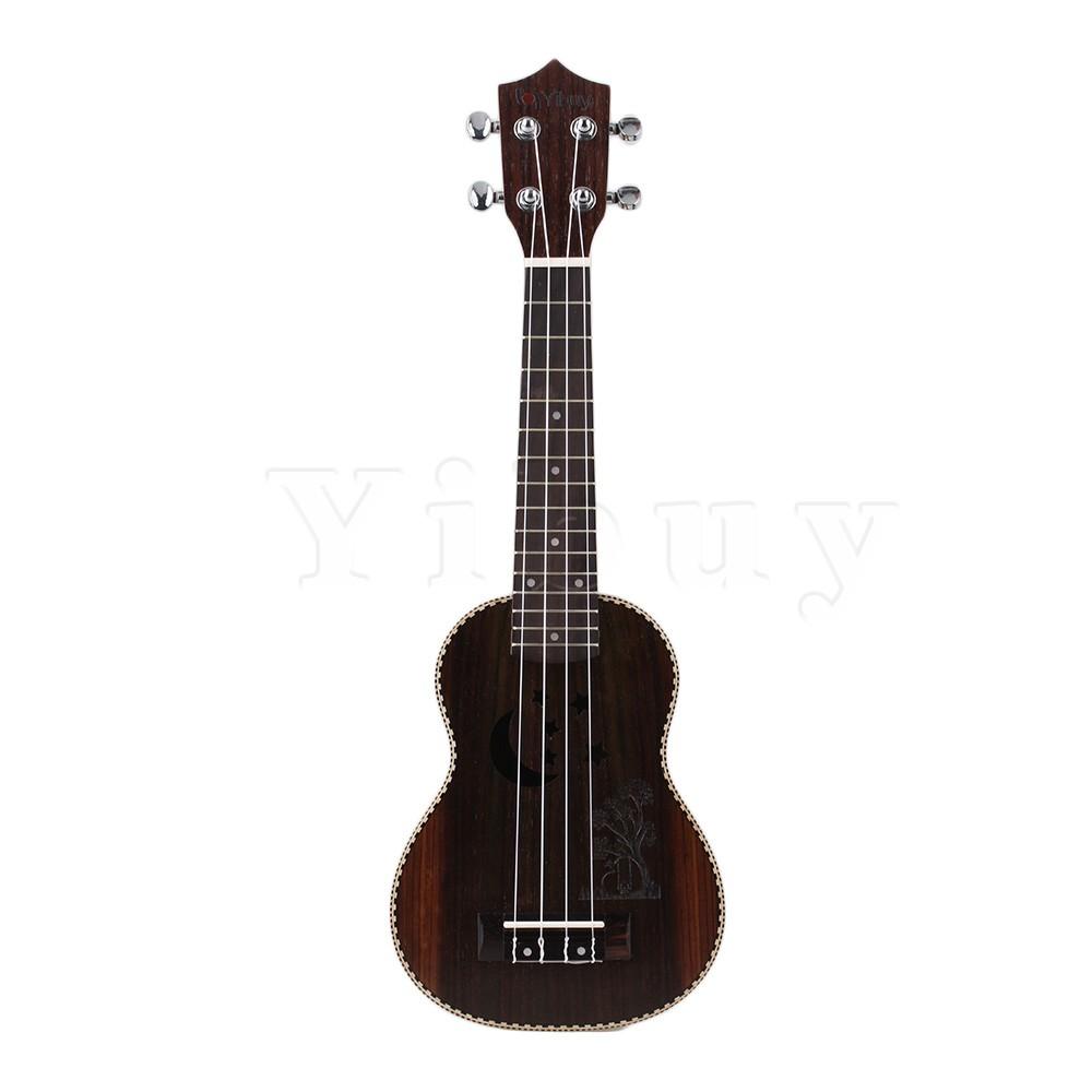 Yibuy 21 Inch Rosewood Moon and Stars Pattern Tenor Ukulele Hawaii Guitar(China (Mainland))