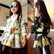 Girls' suits 2015 New arrival Autumn girls T-shirt + skirt 2pcs clothing fashion dress children's skirt suit big girl(China (Mainland))