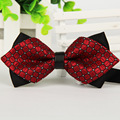 Fashion Adult Men s Bowtie Colorful Polyester Casual Printing Lattice Bow Tie Commercial Formal Cravat 20pcs