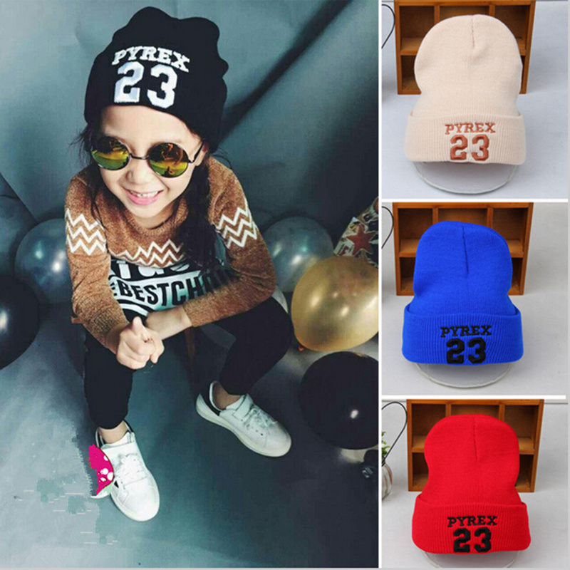 Fashion Pyrex 23 Baby Hat AutumnKids Winter Hats New Children Wool Warm Beanie Classic Candy 6 Color(China (Mainland))