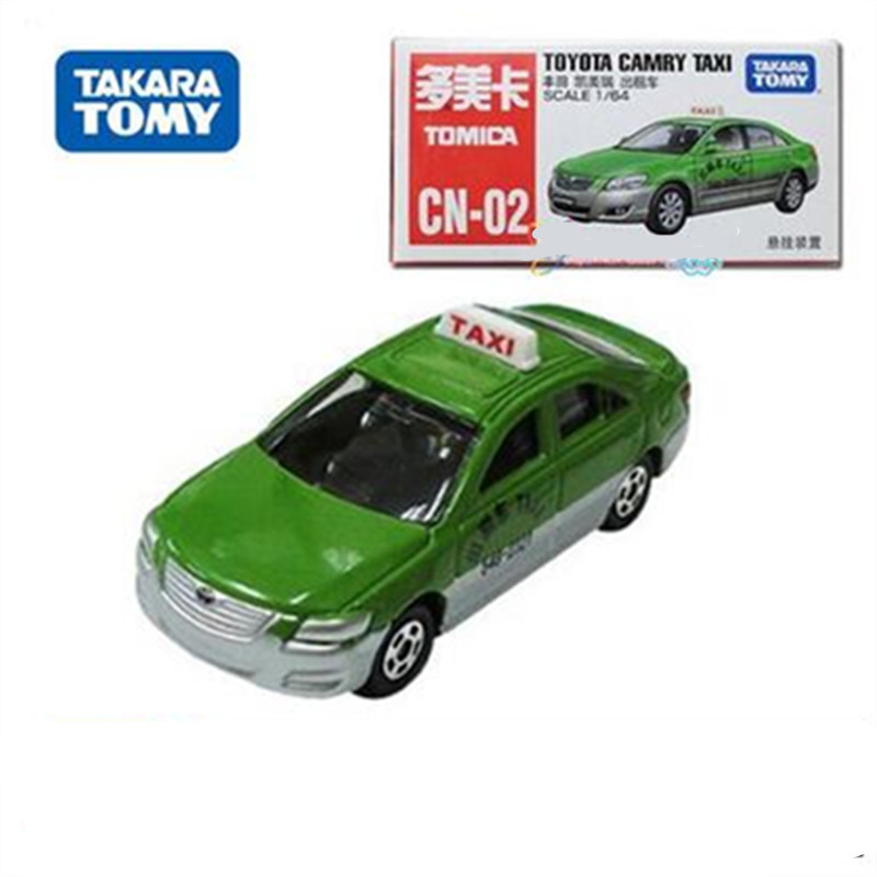 New kids toys tomy tomica green alloy Toyota Camry taxi car die cast collectible model cars for Christmas day gift(China (Mainland))