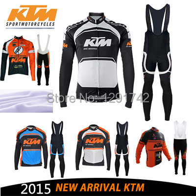 winter thermal 2015 ktm cycling jersey bib pants warm custom tight mtb bicicleat hot style cheap set bike wear(China (Mainland))