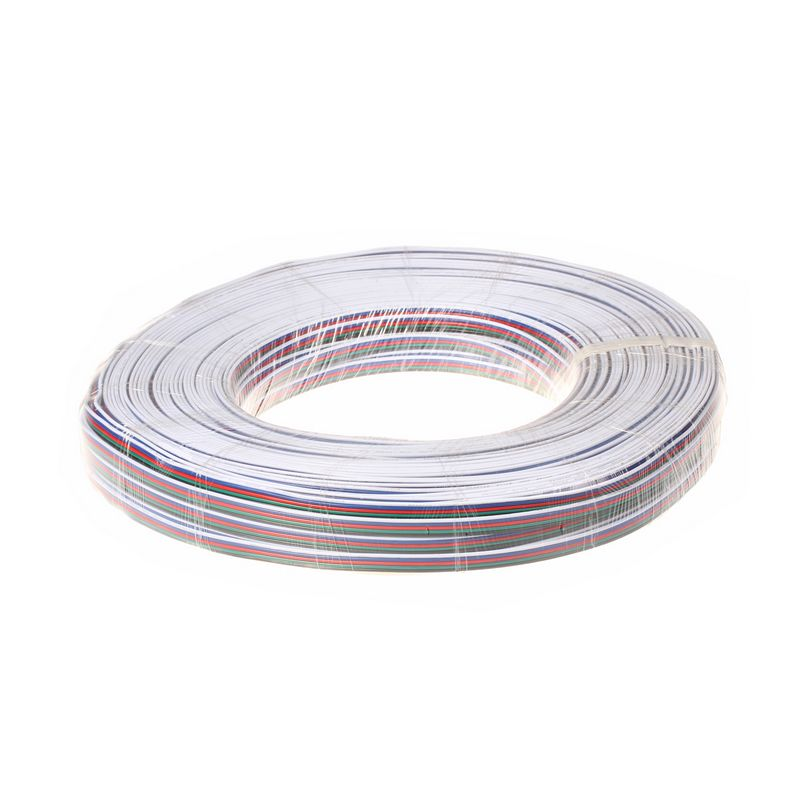 ( 5 reel/lot ) 100M 22AWG 5 Pin RGBW LED Extension Extend Wire Cable Cord For LED Lighting(China (Mainland))