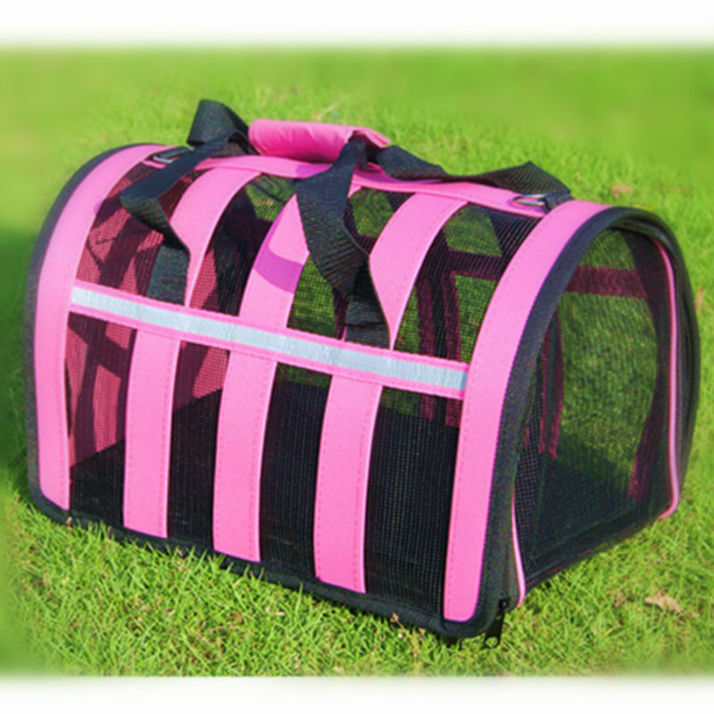 Pet Carriers Dog Bag Cage Cat Kennel Pink Foldable Carrying Bags Airline Approved Travel Carriers Wholesale(China (Mainland))