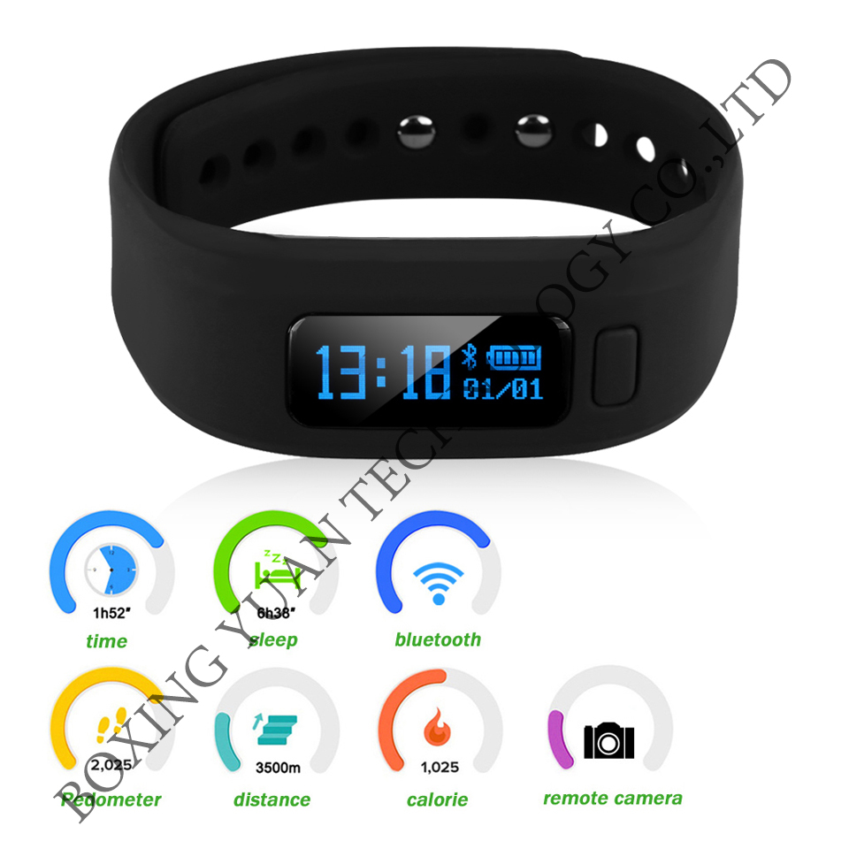 Sport Bluetooth Smart Watch Hot Moving Up Tracker Heart Rate Self Photo Wrist Band Calorie Pedometer