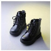 New Brand Kids Boots 2016 Fashion Children's Botas Kids Boys Girls Boots Ankle Lenther Shoes 21-30(China (Mainland))