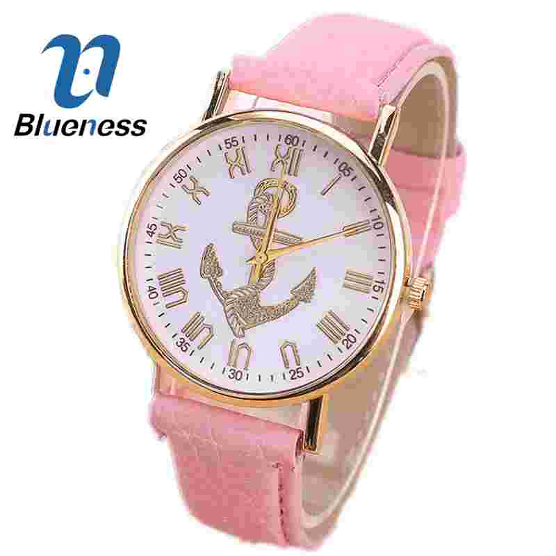 Blueness Gold Anchors Watch For Women Wrist Leather Strap Arrow Ladies Watch  Relogios Femininos Montre Femme Relojes Mujer 456<br><br>Aliexpress