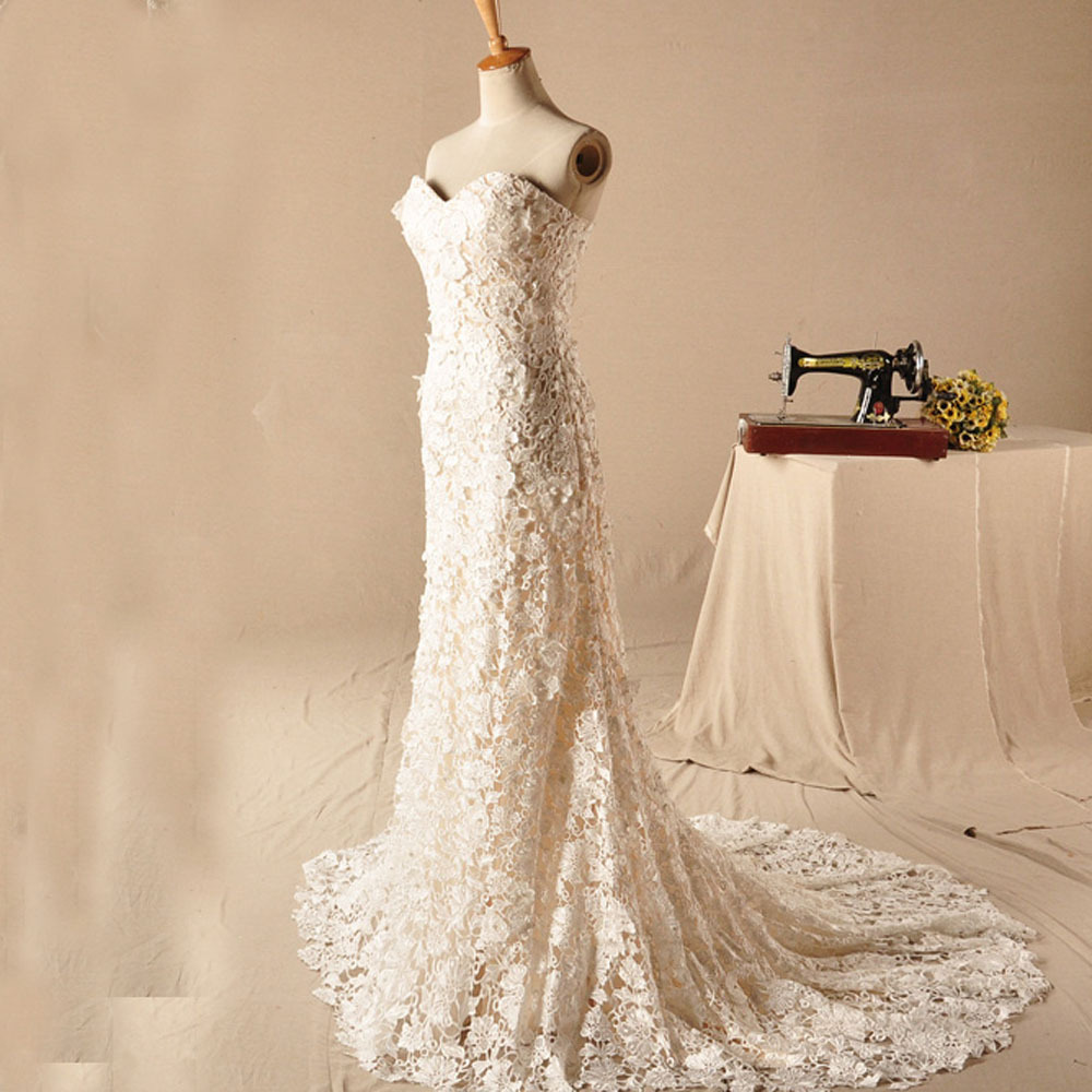 2015 lace hippie wedding dress vintage sexy backless for Hippie vintage wedding dresses