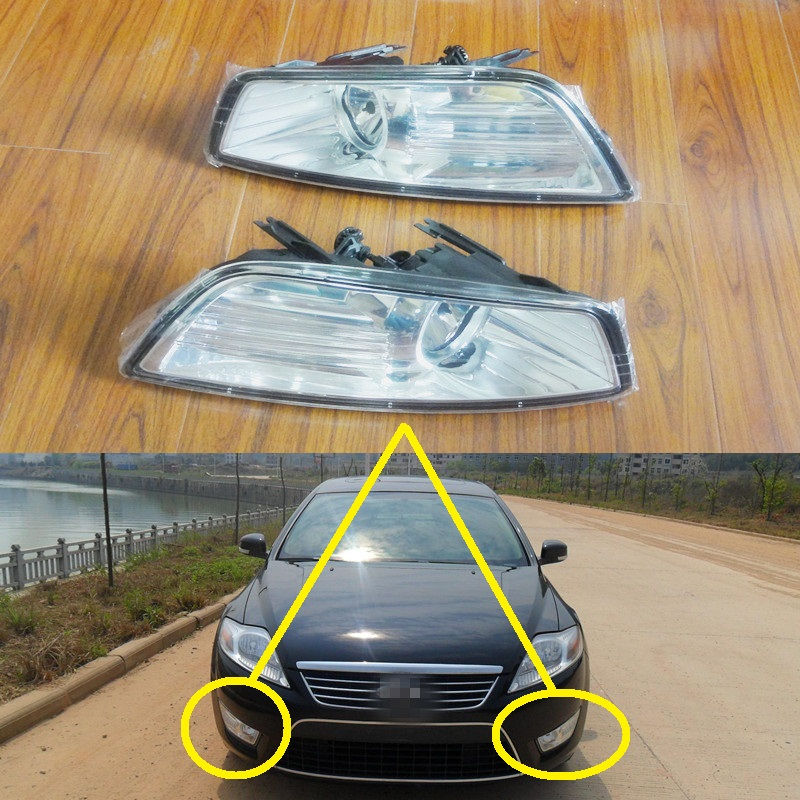 2 Pcs/Pair RH and LH Front fog lights lamps with bulbs for Ford Mondeo 2007-2010(China (Mainland))