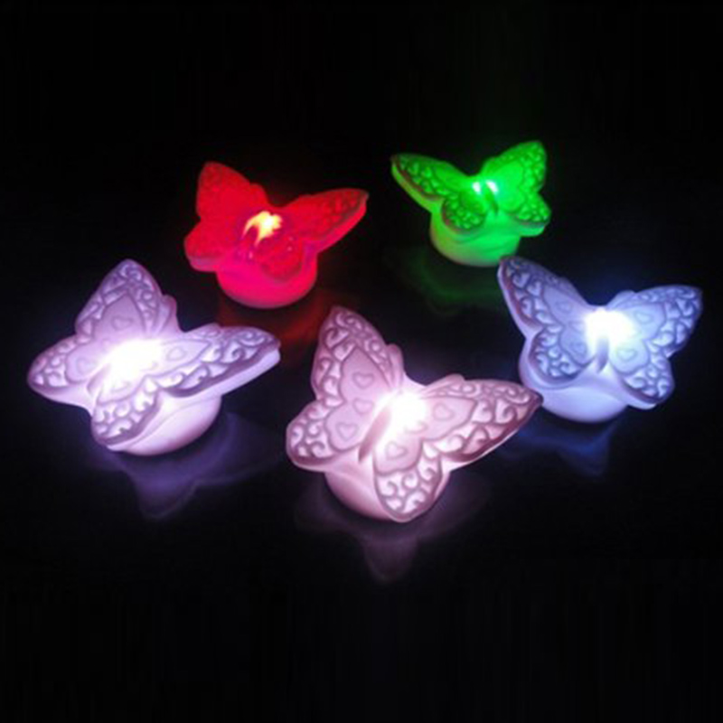 Novelty Color Changed Lamp Butterfly LED Night Light Gift For Kids lLiving Room Coffee Office Decoration(China (Mainland))