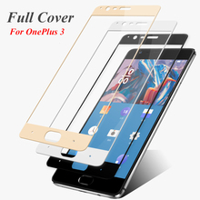 Full Cover Tempered Glass Screen Protector OnePlus 3 3T One Plus Three 9H 2.5D Coverage Explosion Proof Protective Film - World store