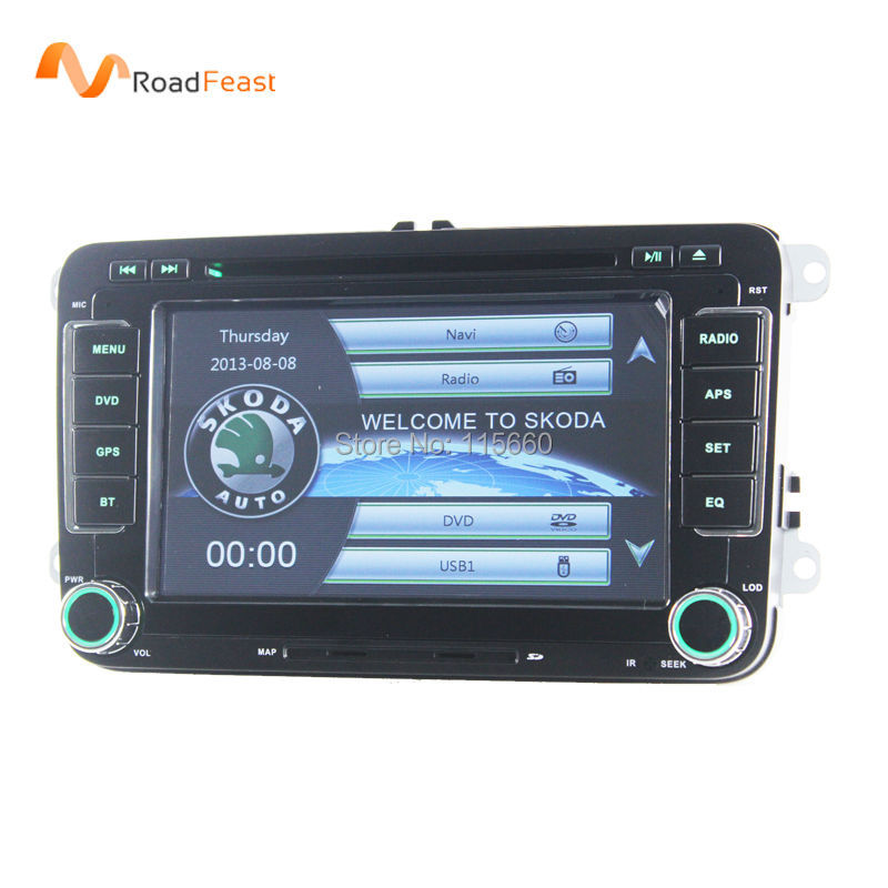 Car DVD Player In-Dash System for Skoda Octavia Superb Yeti Fabia Rapid Roomster with GPS Navigation Bluetooth Steering wheel(China (Mainland))