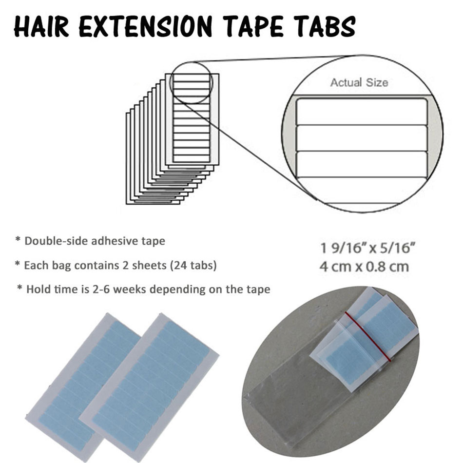 Blue Lace Front Support Tape For Hair Extensions 2pcs 5pcs 10pcs Closure Adhesives Double Sided Hair Extensions Replacement Tape