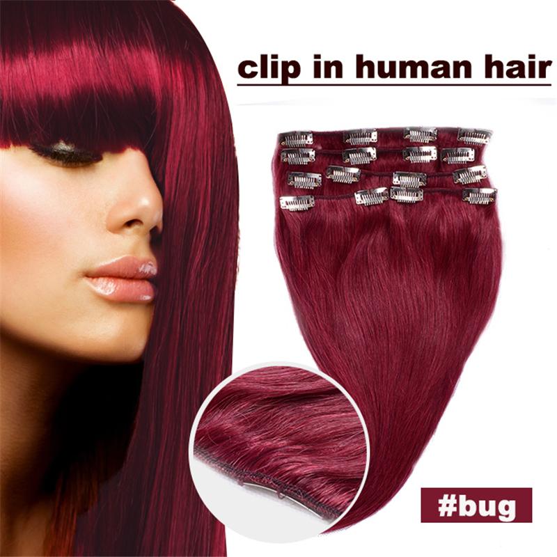 Cheap Human Hair Extensions Full Head 25