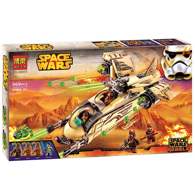 56Bela 10377 Star Wars Wookiee Gunship Model Building Blocks Sets Minifigures Wullffwarro Kanan Bricks