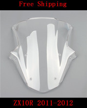 Buy For Kawasaki ZX10R 2011-2012 motorcycle Double bubble windshield windscreen ZX 10R 2011-2012 for $15.62 in AliExpress store