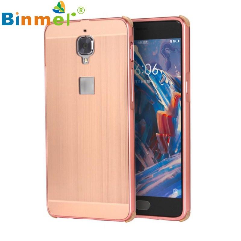 Binmer GS Fashion Brushed Metal Aluminum Hard Case Cover For oneplus 3 Free shipping Jun 29(China (Mainland))