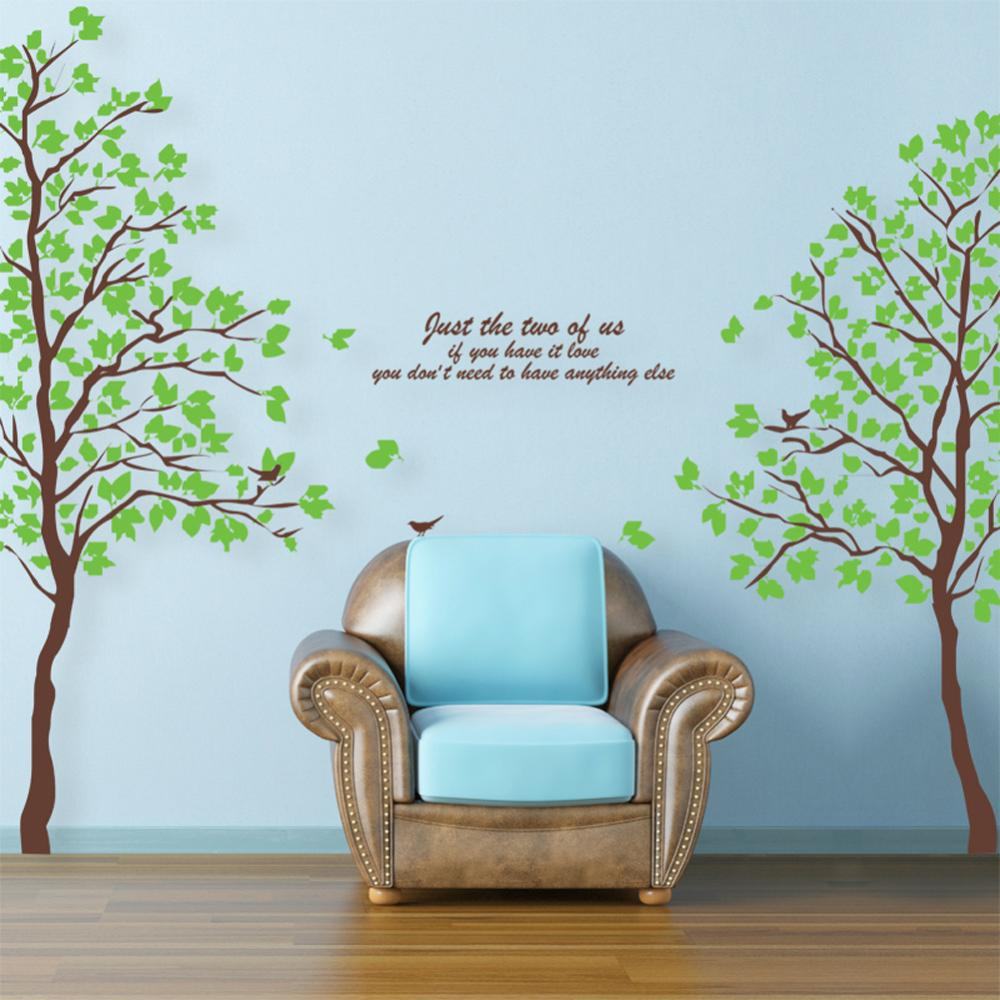 698 oversized green tree lovers a great quality full House waterproof removable wall stickers manufacturers(China (Mainland))