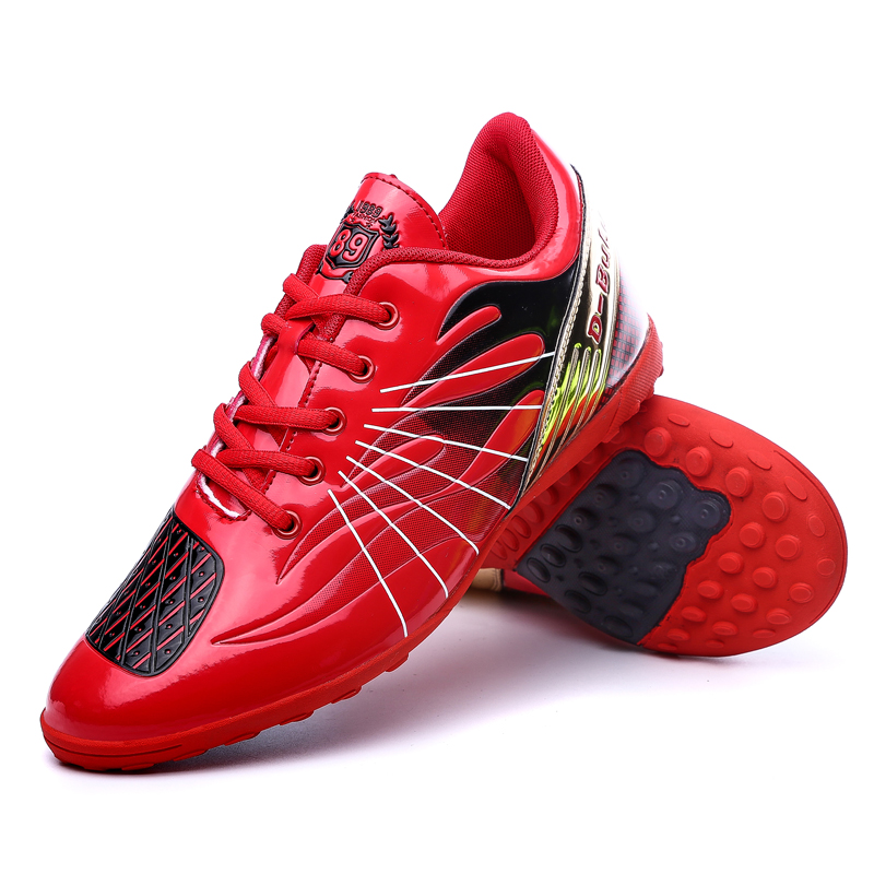 New Soccer Turf Shoes Red Green Football Soccer Cleats Cheap Football Shoes For Kids Turf Trainers Sneakers Youth Soccer Cleats(China (Mainland))