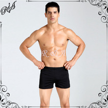2016 Fashion Solid Mens swimwear High Quality Sexy Men Swimwear Swimming Trunk Low Waist Stripe Shorts Soft Comfortable Swimsuit