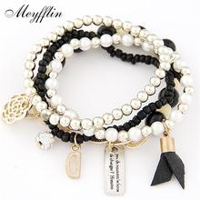 Beads Wrap Bracelet For Women Pulseira Feminina Fashion Charm Bracelets & Bangles Femme Bohemian Multilayer Flower Pulseras(China (Mainland))