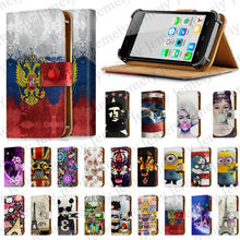 4 7 Universal Leather Case Skin Print Tiger Wolf Floral Butterfly Phone Cover For Explay Vega