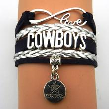 Buy Infinity Love Dallas Cowboys bracelet NFL sport gift Football team Charm bracelet & bangles women men jewelry Drop for $1.04 in AliExpress store