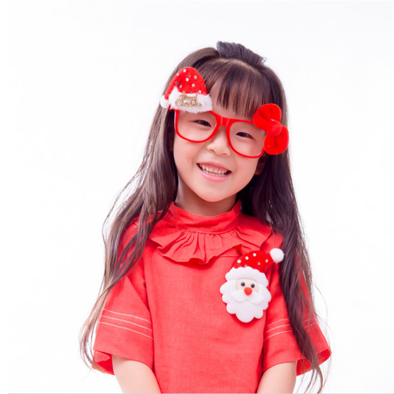 Christmas spectacle frame glasses frame Christmas Decoration children Christmas dance party glasses show props party supplies(China (Mainland))