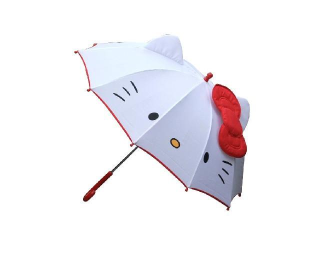 Free Shipping NEW HOT lovely Cartoon Hello Kitty children anime umbrella for kids girl cute umbrella baby white umbrella(China (Mainland))